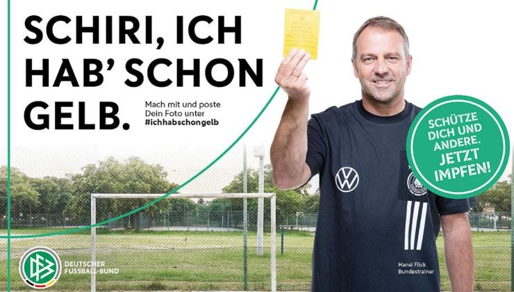 """""""Schiri, ich hab' schon Gelb"""": DFB startet Impfkampagne"""