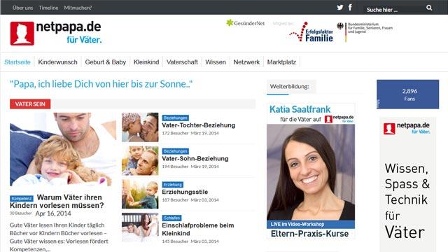 Für Väter: netpapa.de ist online