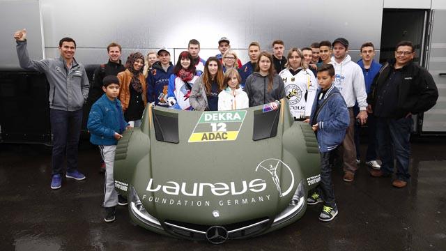 Laureus Projekte beim DTM-Rennen zu Besuch