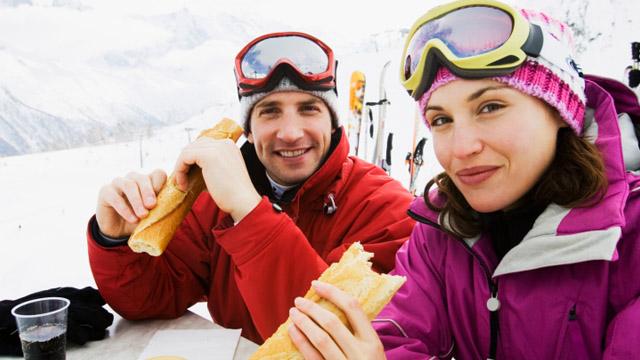 Richtige Ernährung beim Skifahren