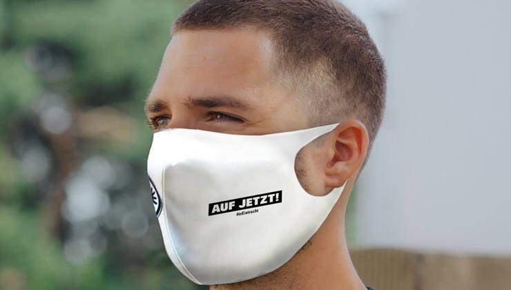 Auf jetzt! SGE verkauft Masken für den guten Zweck