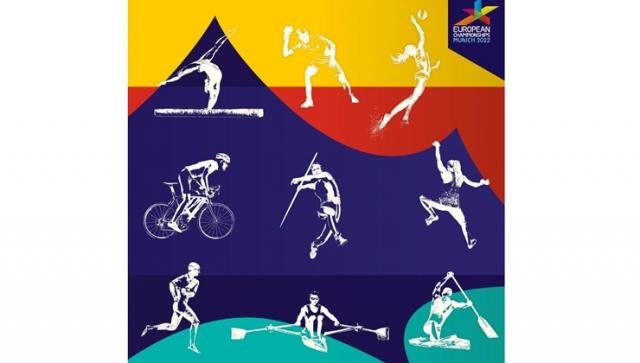 European Championships Munich 2022 enthüllen Leitidee