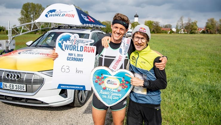 Drei Deutsche unter den Top 4 beim Wings for Life World Run 2019