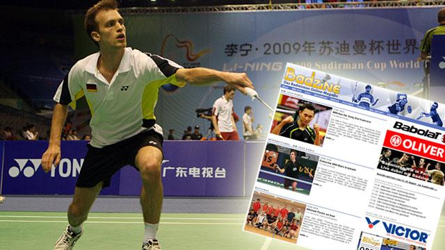 Mehr Sport im Netz: badzine.de  - Badminton pur