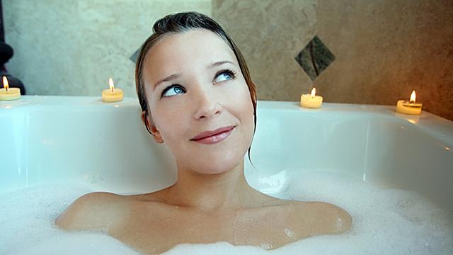 Entspannung und Erholung in der Badewanne