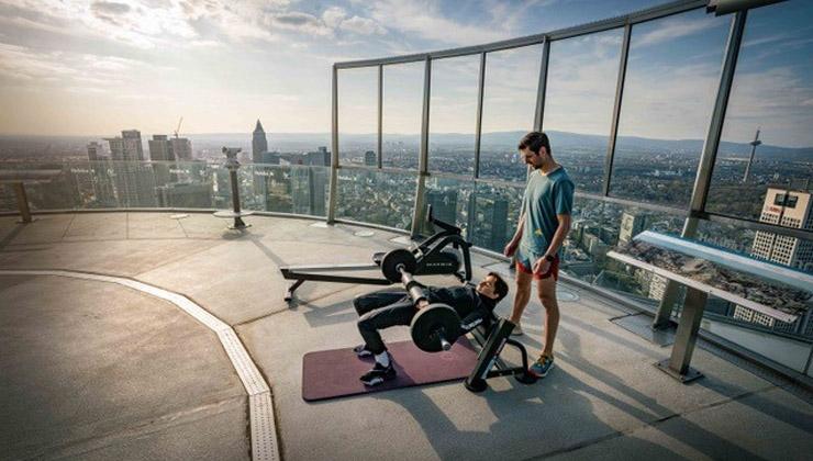 Das höchste Outdoor-Trainings-Studio Europas