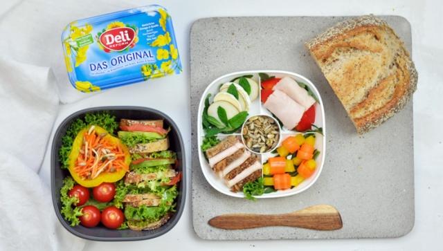 Gesunde Lunchbox für die Mittagspause