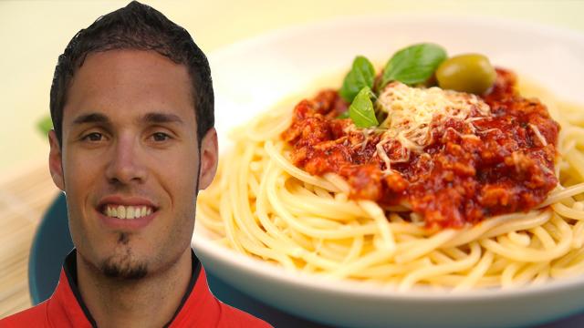 Spaghetti Bolognese von 110m-Hürdensprinter Matthias Bühler