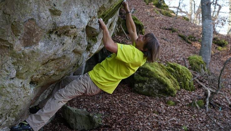 Route mit Schlüsselstellen – Michael Füchsles Weg vom Vollprofi ins Koma und zurück an den Fels