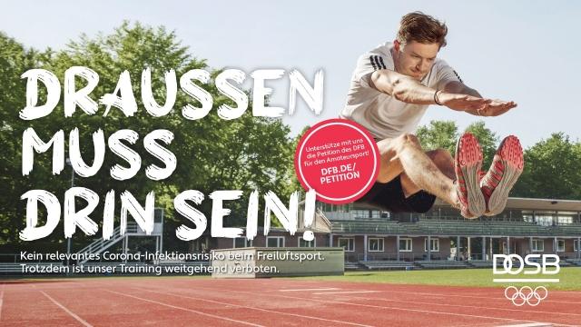 Draußen muss drin sein: DFB und DOSB starten Petition für Amateursport