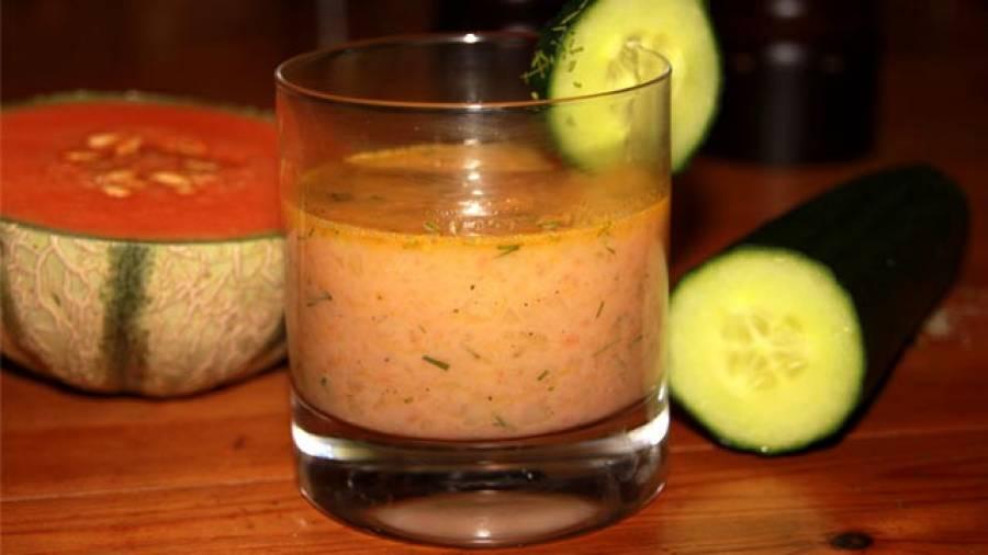 Sport-Rezept: Melonenbuttermilch mit Gurke