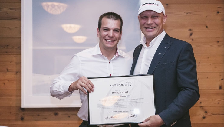 Neuer Botschafter: Markus Salcher unterstützt Laureus