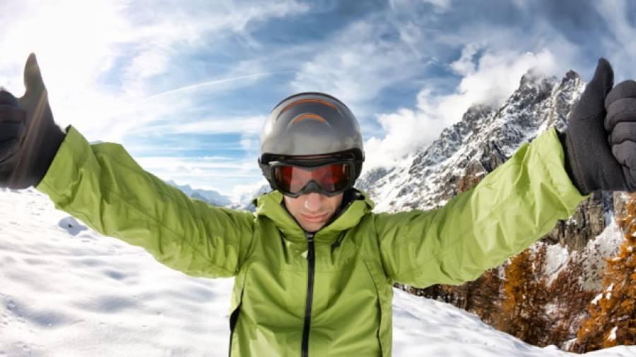 Skihelme können Leben retten