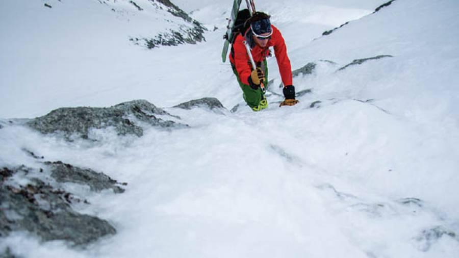 Steile Abfahrt – Blanche de Perroc