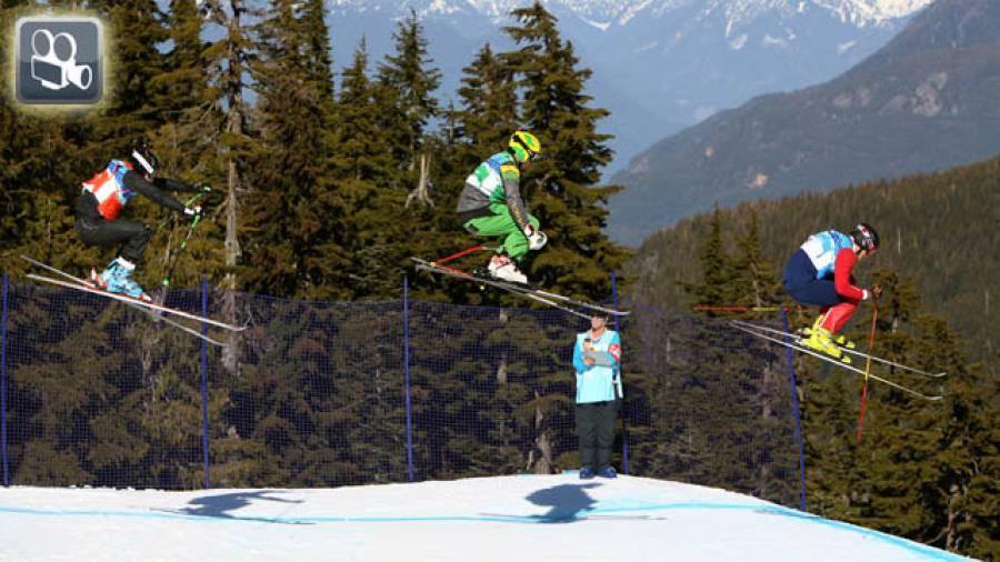Deutsche Skicross-Weltcuppremiere – Training der DSV-Skicrosser