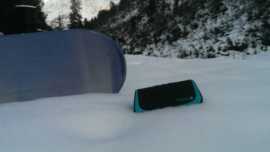 Musik im Schnee - Der Fugoo-Lautsprecher