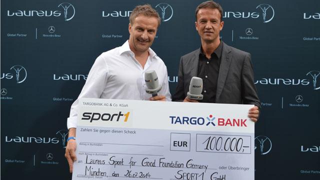 100.000 Euro für die Laureus Sport for Good Stiftung