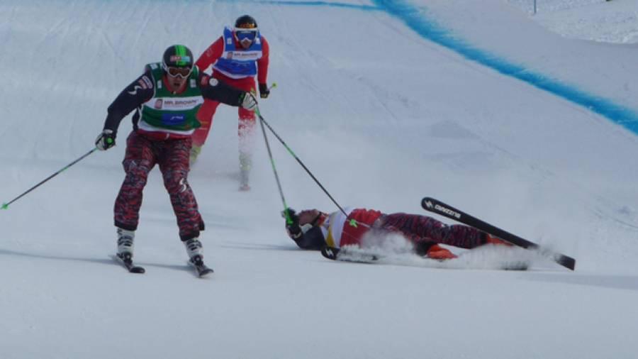 Der Skicross-Weltcup in Grasgehren – Harte Kämpfe, blutige Nasen