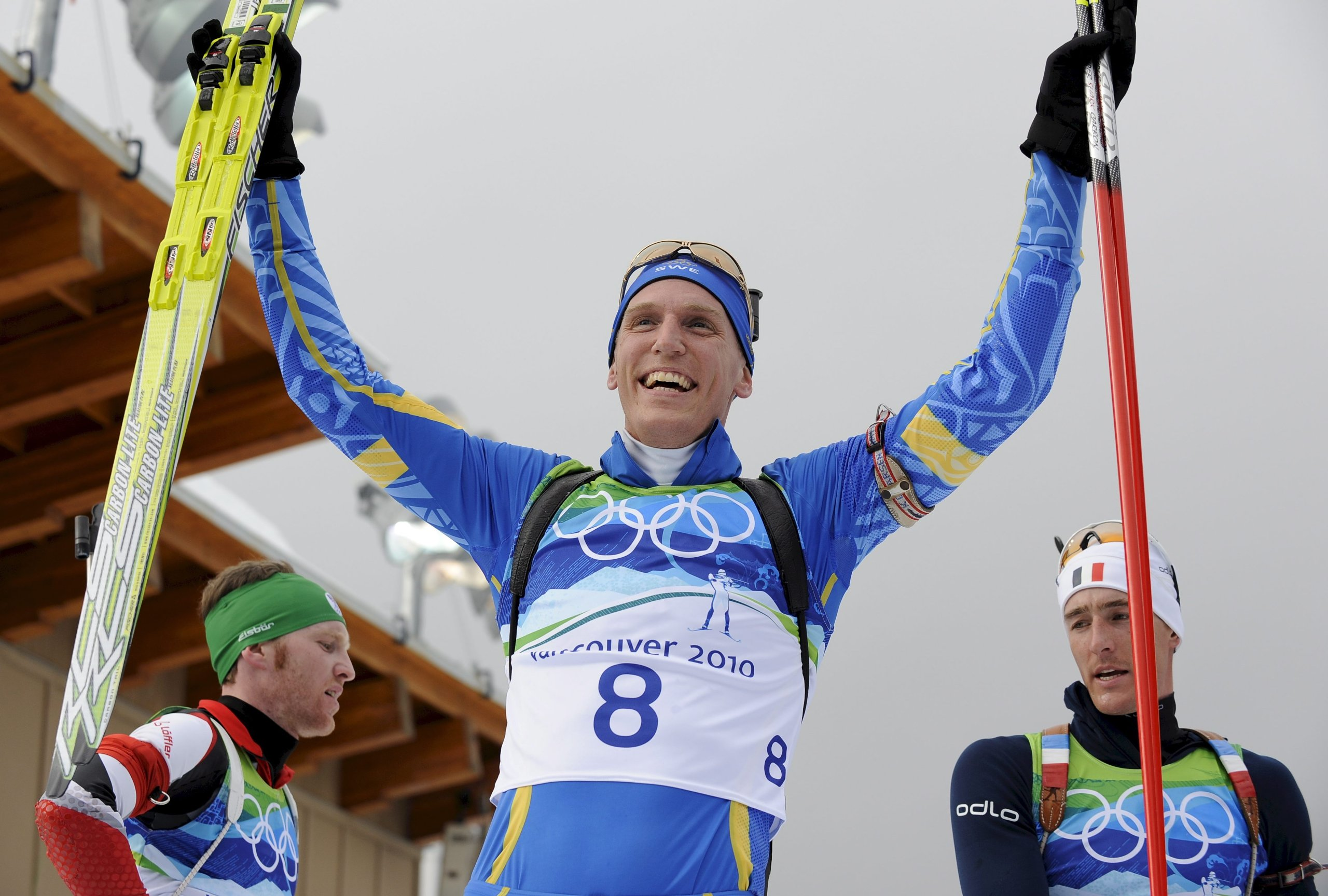 Björn Ferry holt Gold in der 12,5 km Verfolgung