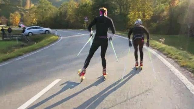 Evi´s Way to Oslo  - Teil 2: Rollski-Training
