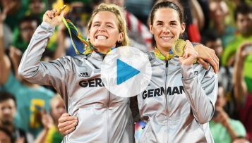 Gold-Interview: Die Beachvolleyballerinnen Laura Ludwig und Kira Walkenhorst