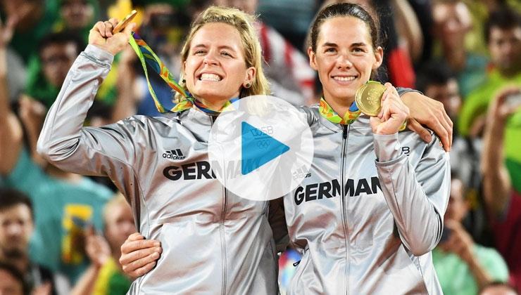 Gold-Interview: Die Beachvolleyballerinnen Laura Ludwig und Kira Walkenhorst