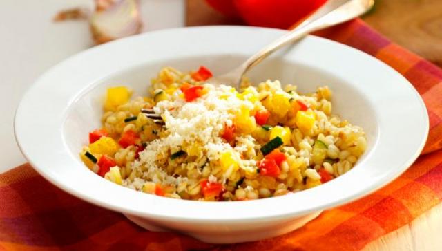Kochen mit Beta-Glucan Gerste: Paprika-Gersten-Risotto