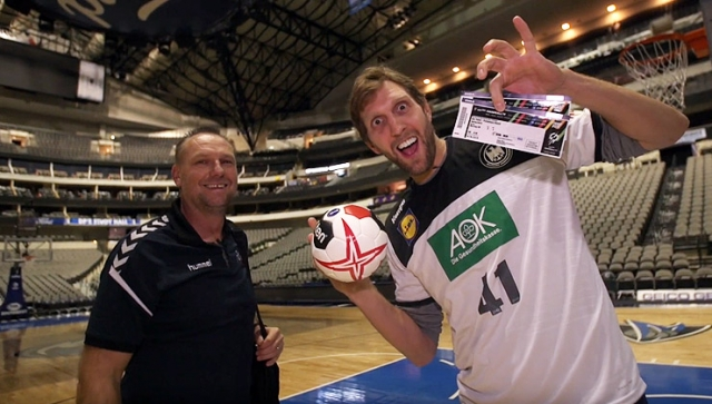 Blacky trifft Dirkules - Handball-WM 2019