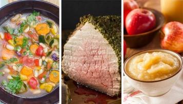 Kalorienarmes Silvestermenü: Gemüsesuppe, Roastbeef, Apfelkompott