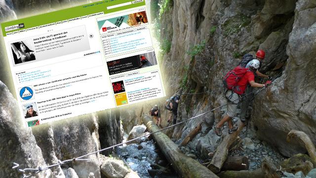 Mehr Sport im Netz - climbing.de