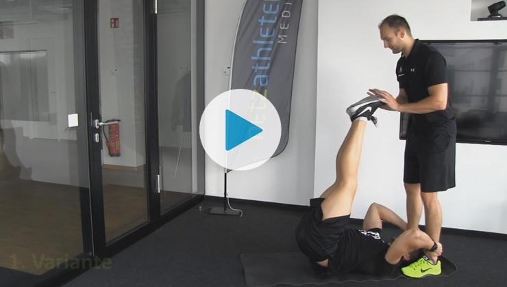 Übung der Woche - Bauchmuskeltraining (mit Partner)