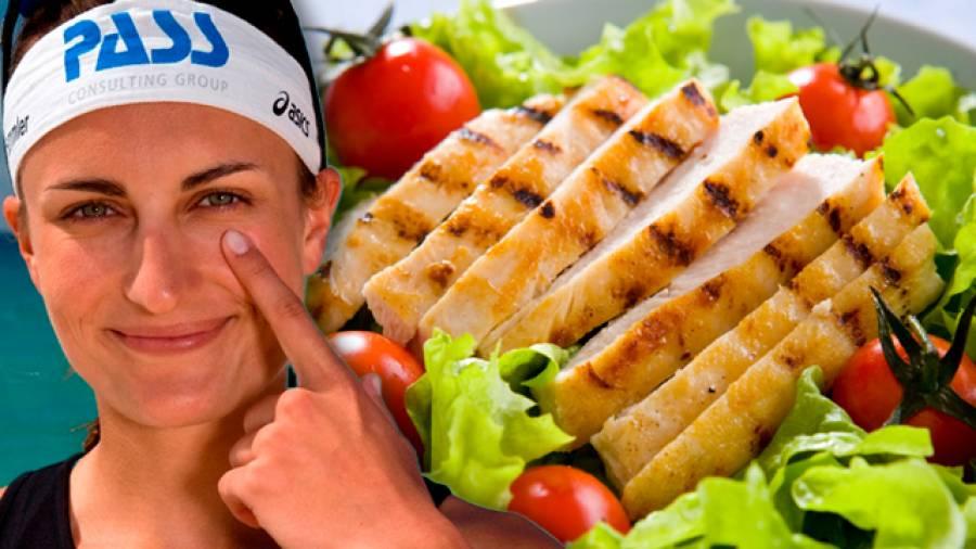 Bunter Salat mit Hähnchenbruststreifen von Ilka Semmler