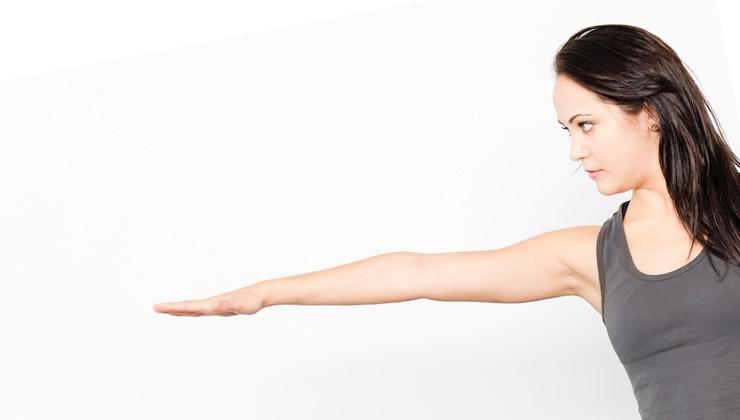 yoga bungen f r anf nger bogen stehend. Black Bedroom Furniture Sets. Home Design Ideas