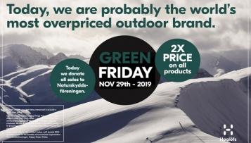 Green Friday: Haglöfs stellt Black Friday auf den Kopf