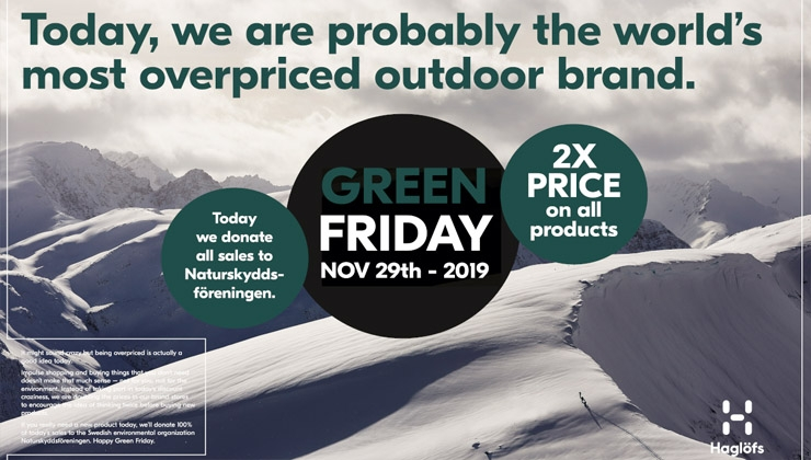 Green Friday: Haglöfs stellt Black Friday auf den Kopf