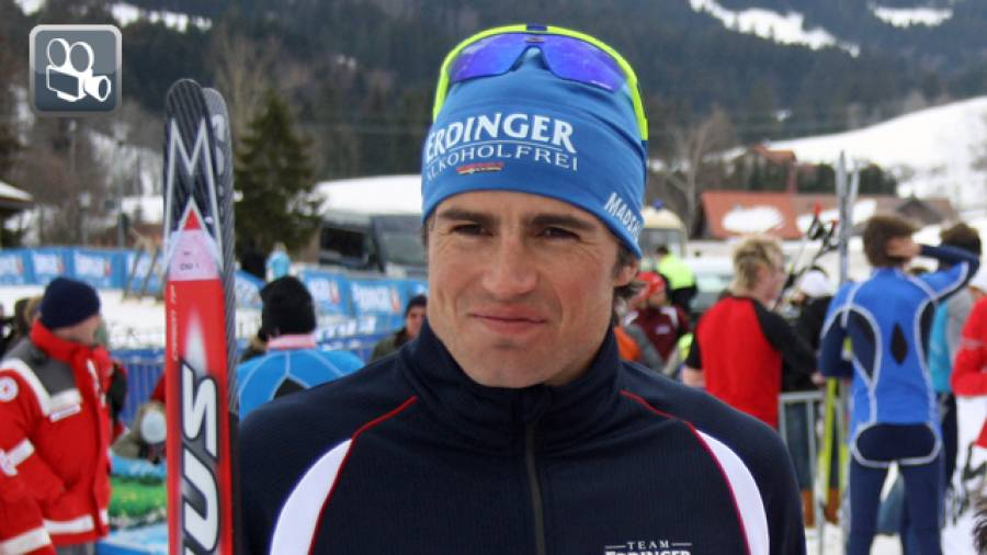 Interview mit Michael Göhner beim Wintertriathlon